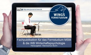 "Wings Fernstudium Master Sales And Marketing: Studieren von überall. Nutzen Sie dazu die Fachpublikation ""Journal of Master Sales And Marketing"