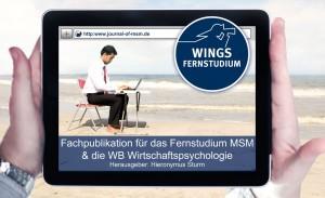 """Wings Fernstudium Master Sales And Marketing: Studieren von überall. Nutzen Sie dazu die Fachpublikation """"Journal of Master Sales And Marketing"""